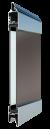 Standardne kogu ulatuses läbinähtav paneel FULL VIEW, värvitud
