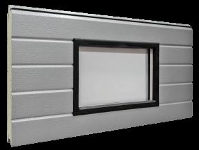 Kahekordse PVC-akrüülklaasistusega ristkülikukujuline aken - Must plastraam 640 x 336 mm