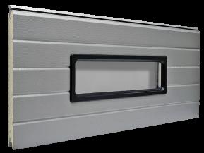 Kahekordse PVC-akrüülklaasistusega ristkülikukujuline aken - Must plastraam 610 x 200 mm